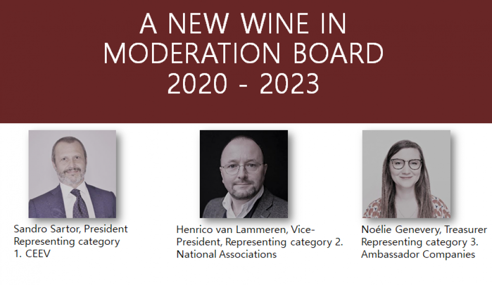 Wine in Moderation elects new Board of Administration