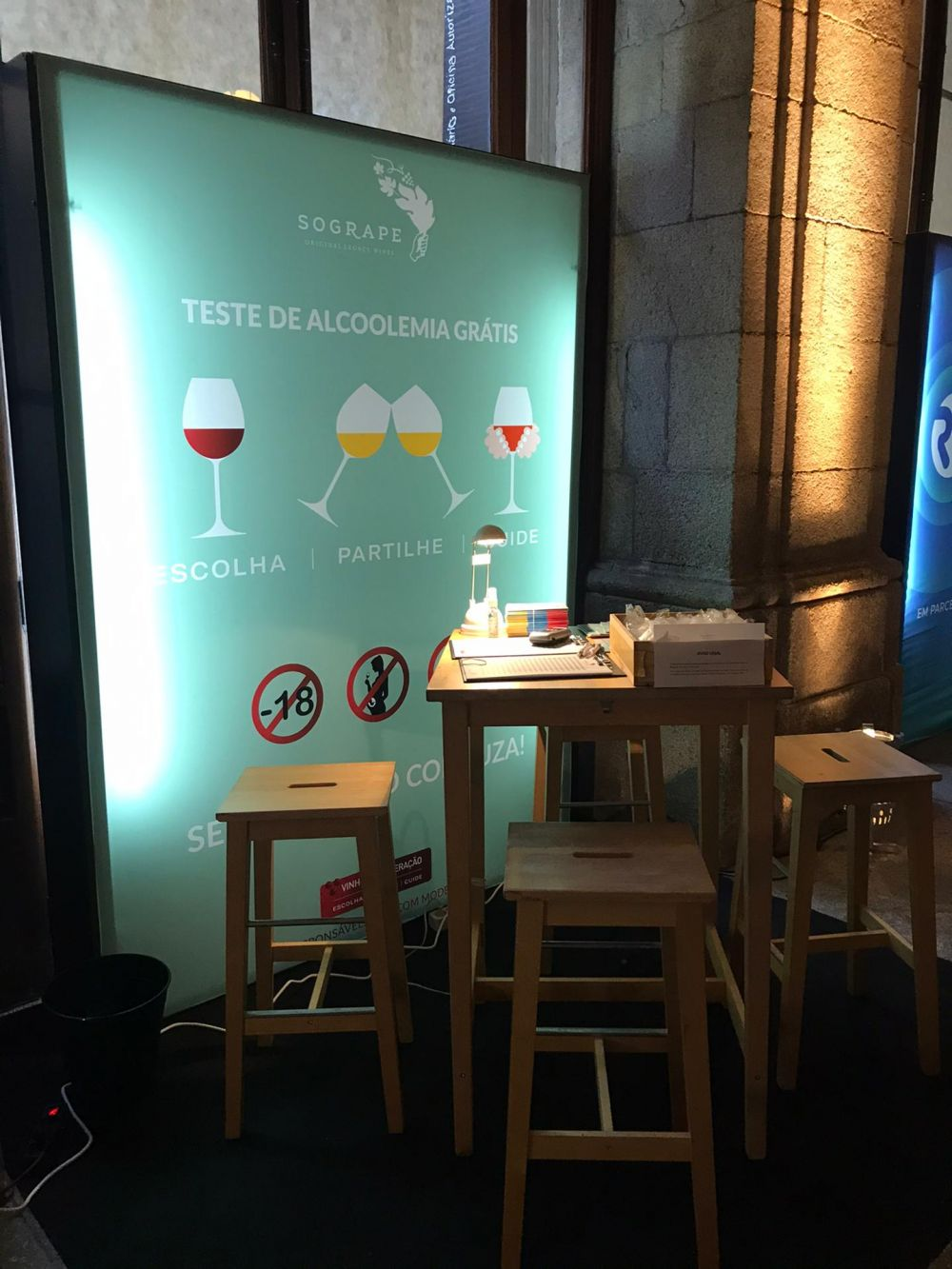 Another new record of Breathalyzer tests set at Essência do Vinho by Sogrape